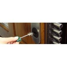 Замена замка, фурнитуры, цилиндра в двери